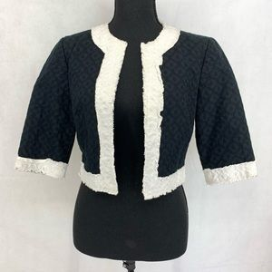 Trina Turk Colorblock Pattern Evening Jacket